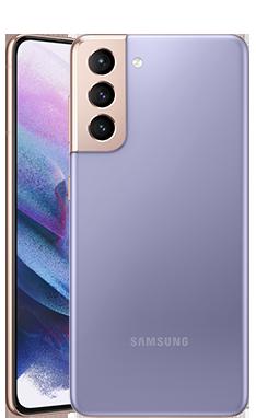 Galaxy S21のファントムバイオレット色の本体画像
