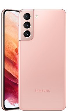 Galaxy S21のファントムピンク色の本体画像
