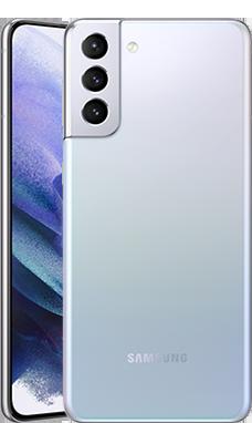 Galaxy S21+のファントムシルバーの本体デザイン画像