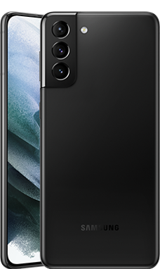 Galaxy S21+のファントムブラックカラーの本体画像