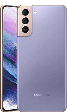 Galaxy S21+のファントムヴァイオレットカラーの本体画像
